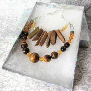 Tiered Statement Stone/Crystal Necklace